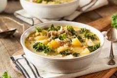 Homemade Warm Creamy Tuscan Soup Royalty Free Stock Photos