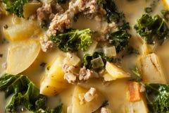Homemade Warm Creamy Tuscan Soup Stock Photography