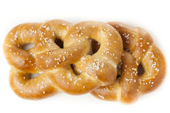 Homemade Warm Soft Pretzel Royalty Free Stock Photos