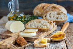 Homemade wheat bread. Royalty Free Stock Photography
