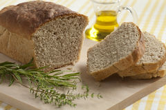 Homemade wheat and herbal bread Royalty Free Stock Images