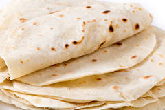 Homemade wheat tortilla pile Stock Photography