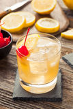 Homemade Whiskey Sour Cocktail Drink Royalty Free Stock Photo