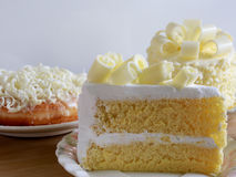 Homemade white chocolate cakes , selective focus Royalty Free Stock Photography
