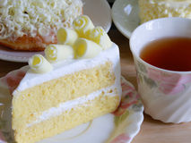 Homemade white chocolate cakes , selective focus royalty free stock photo