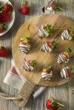 Homemade White Chocolate Covered Strawberries Royalty Free Stock Photo