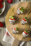 Homemade White Chocolate Covered Strawberries Royalty Free Stock Image