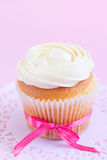 Homemade White Cupcake Royalty Free Stock Images