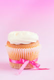 Homemade White Cupcake Royalty Free Stock Image