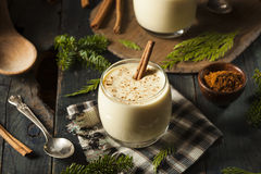 Homemade White Holiday Eggnog stock photography