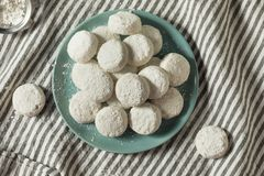 Homemade White Mexican Wedding Cookies royalty free stock photography