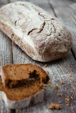 Homemade whole grain bread on the boards Royalty Free Stock Image
