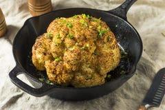 Homemade Whole Roasted Cauliflower royalty free stock photography