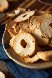 Homemade Whole Wheat Bagel Chips Stock Photography