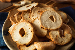 Homemade Whole Wheat Bagel Chips Royalty Free Stock Images