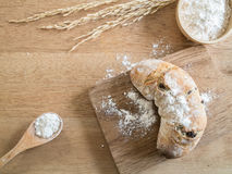 Homemade whole wheat bread on the wooden chopping board Stock Image