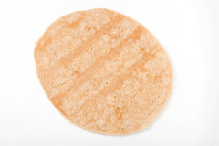 Homemade whole wheat  mexican tortilla on white Stock Image
