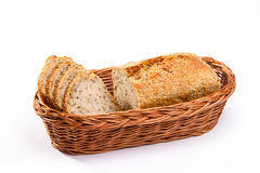 Homemade wholemeal bread in basket Stock Photography