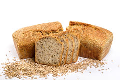 Homemade wholemeal bread with sunflower seeds Royalty Free Stock Image