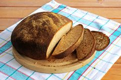 Homemade Wholemeal Loaf. Royalty Free Stock Image
