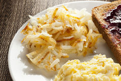 Homemade Wholesome American Breakfast Royalty Free Stock Photos