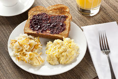 Homemade Wholesome American Breakfast Royalty Free Stock Images