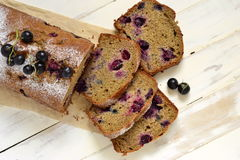 Homemade wholewheat cake with blackcurrant Royalty Free Stock Photo