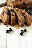 Homemade wholewheat cake with blackcurrant Stock Photography