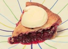 Homemade Wild Blackberry Pie with Ice Cream Stock Photography