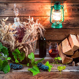 Homemade winery in cellar Royalty Free Stock Photography