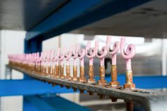 Homemade wire holders stock photo