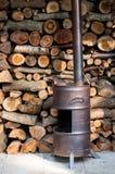 Homemade wood burner Stock Images