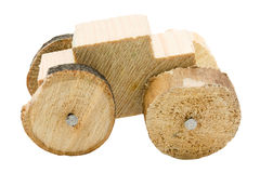 Homemade wooden car toy Royalty Free Stock Image