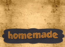Homemade word Royalty Free Stock Photo