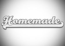 Homemade word Stock Image