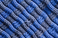 Homemade Woven Crochet with Diagonal Ridge Lines Stock Images