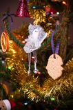 Homemade xmas tree decorations Stock Images