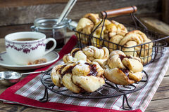 Homemade yeasted buns. Royalty Free Stock Images