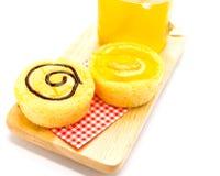 Homemade yellow cupcakes Stock Photos