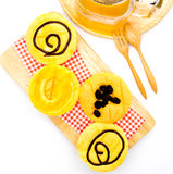 Homemade yellow cupcakes Stock Photography