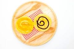 Homemade yellow cupcakes Royalty Free Stock Photos
