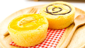 Homemade yellow cupcakes Stock Images