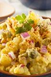 Homemade Yellow Potato Salad. With Eggs and Pickles stock image