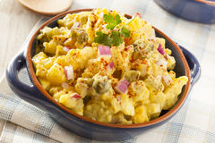 Homemade Yellow Potato Salad Royalty Free Stock Photos