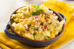 Homemade Yellow Potato Salad Stock Photo
