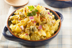 Homemade Yellow Potato Salad Stock Images