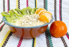 Homemade yoghurt kiwi Royalty Free Stock Photography