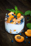 Homemade yogurt with berries Stock Photography
