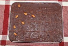 Homemade yummy  almond Chocolate cake Royalty Free Stock Photography