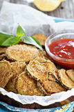 Homemade zucchini chips Royalty Free Stock Photo